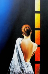 Die Farbe des Gedankens 100 x 140 cm Öl, Acryl auf Leinwand