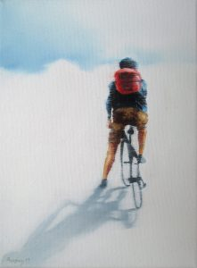 Auf Tour 18 x 24 cm, Öl auf Leinwand, Künstler Kai Pieopgras