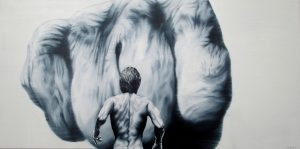 Kräftespiel 50 x 100 cm, Öl, Acryl auf Leinwand, Künstler Kai Piepgras