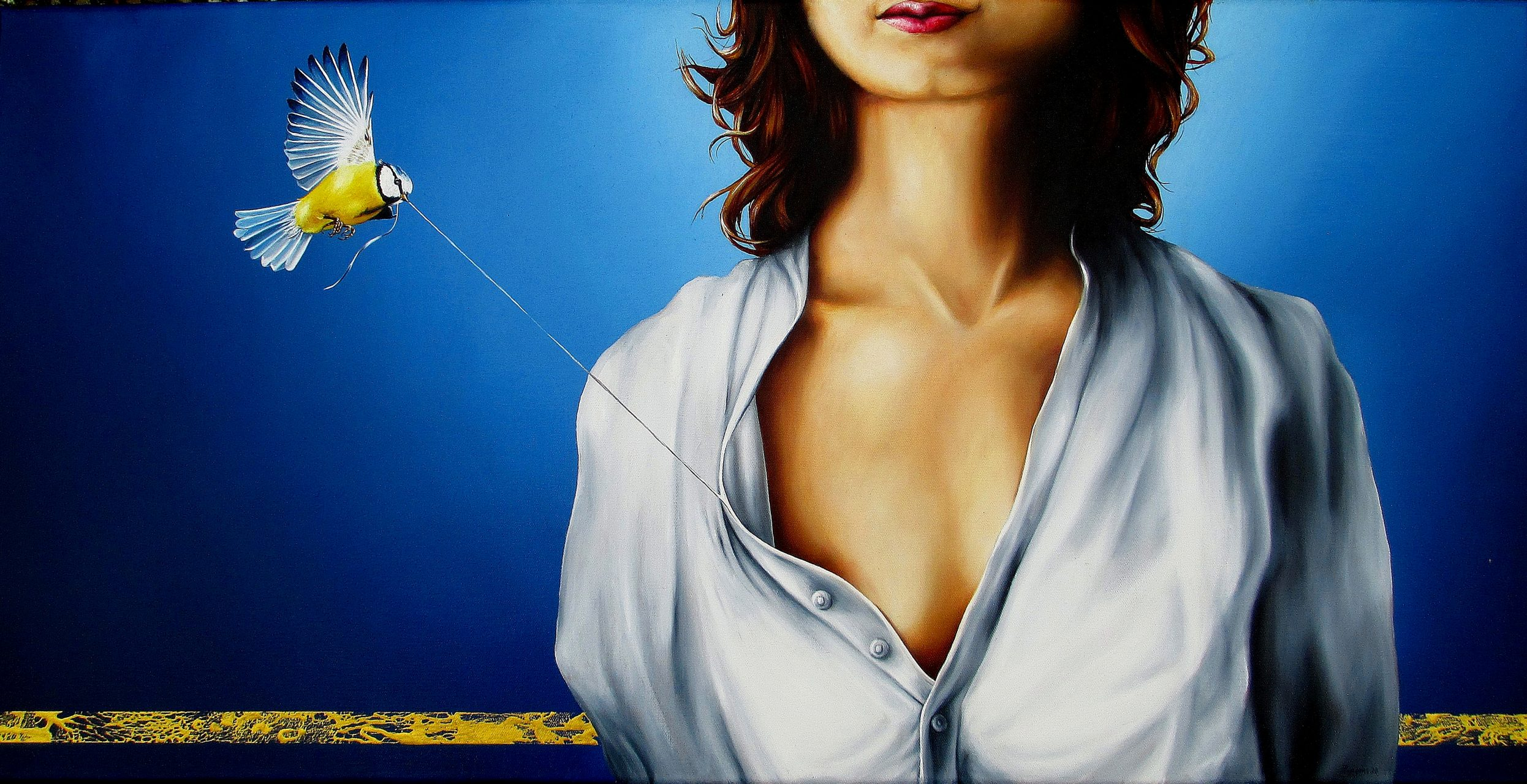 Beflügelter Moment 50 x 100 cm Öl, Acryl auf Leinwand