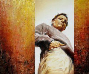 Moment Mal 50 x 60 cm, Öl, Acryl auf Leinwand