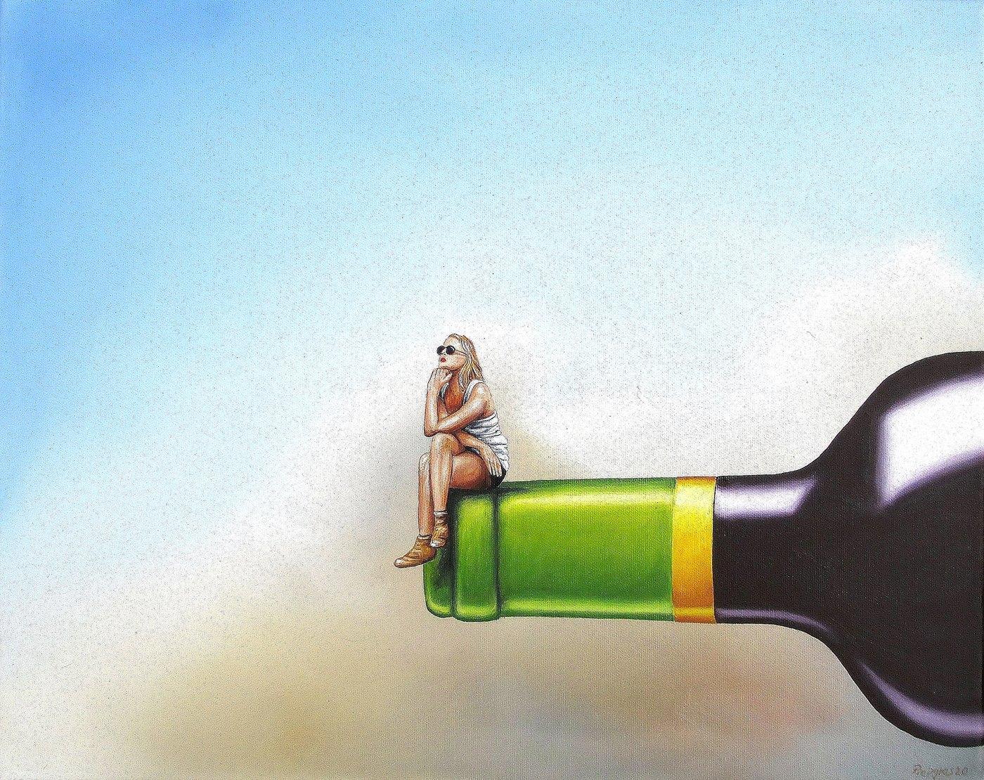 Denk-Mal 40 x 50 cm Öl, Acryl auf Leinwand