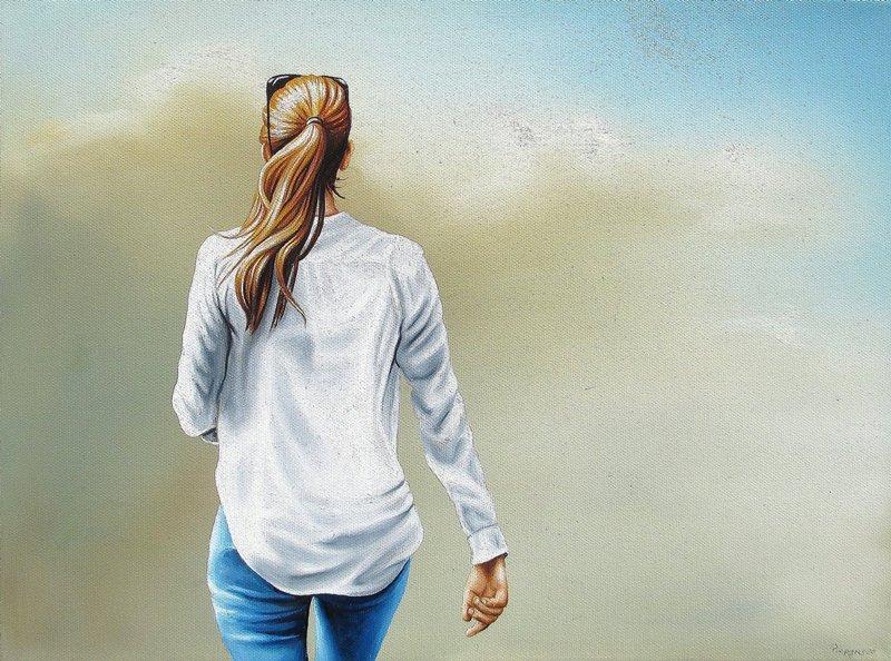Wolken Schau 30 x 40 cm Öl, Acryl auf Leinwand