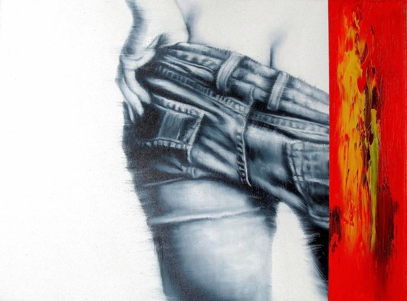 Es Bleibt Rot...(15) 30 x 40 cm Öl auf Leinwand