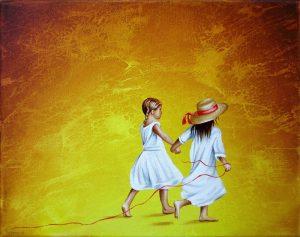 Spiel Mit 24 x 30 cm Öl, Acryl auf Leinwand