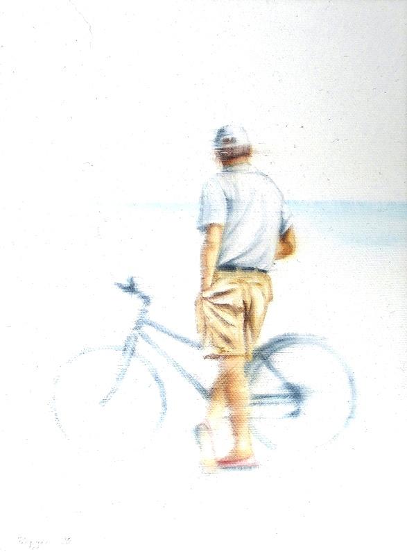 Tag Am Meer 18 x 24 cm Öl auf Leinwand
