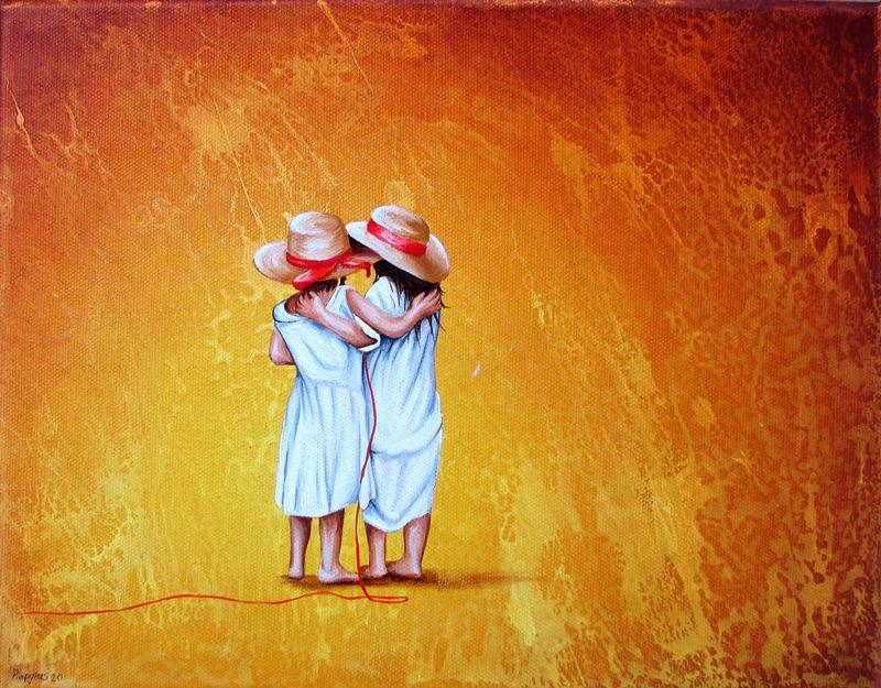 Zusammen 24 x 30 cm Öl, Acryl auf Leinwand