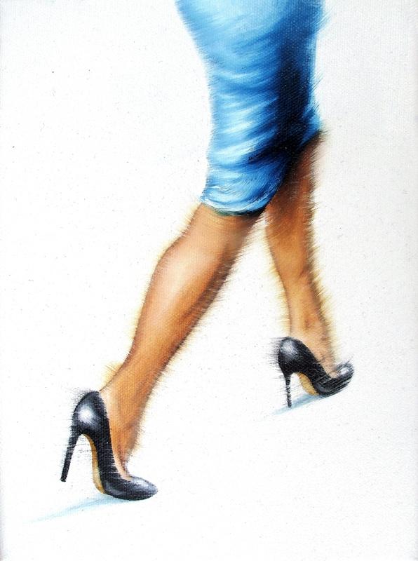 Der Blaue 18 x 24 cm Öl auf Leinwand