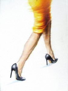 Der Gelbe 18 x 24 cm Öl auf Leinwand