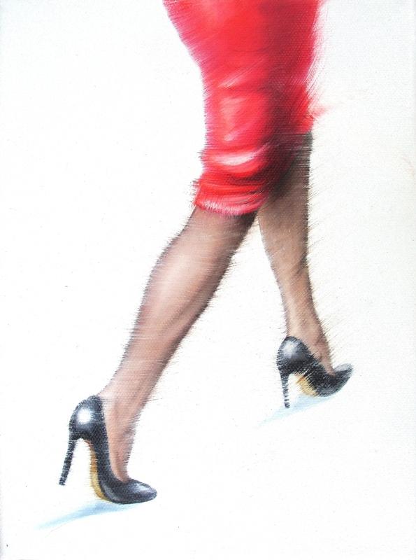Der Rote 18 x 24 cm Öl auf Leinwand