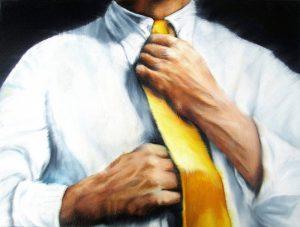 Mensch 30 x 40 cm Öl auf Leinwand