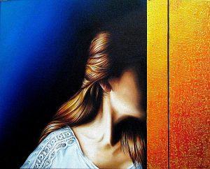 Verdichtung 40 x 50 cm Öl, Acryl auf Leinwand