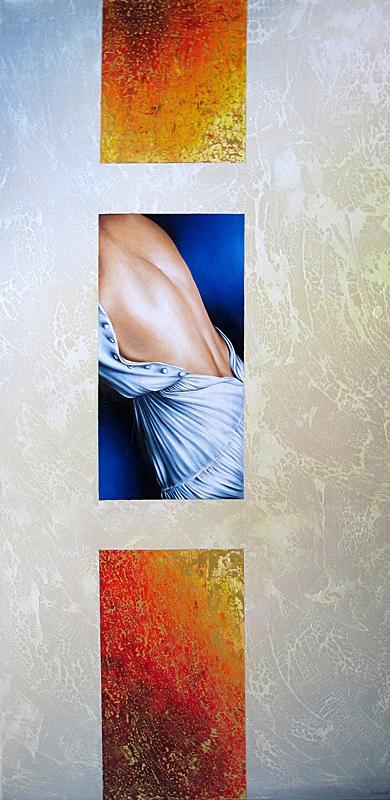 Summer In The City 50 x 100 cm Öl, Acryl auf Leinwand